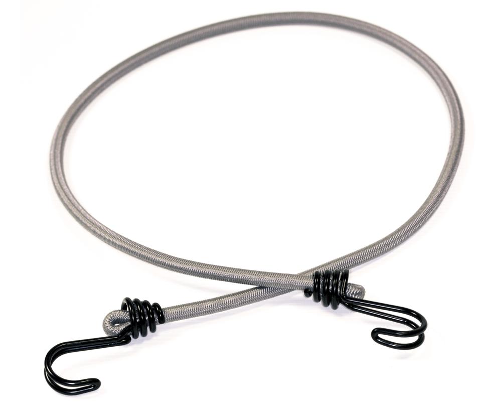Expander Gummiseil 100cm Grau mit 2 starken Doppelhaken