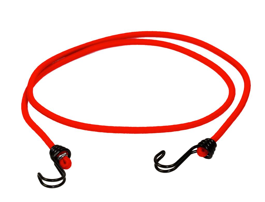 Gummispanner 150cm Rot - 2 Doppelhaken