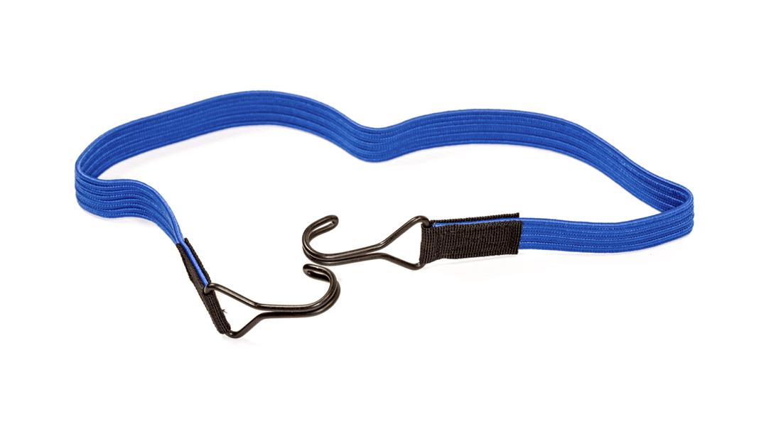 Flachgummiband mit 2 Doppelhaken 80cm Blau